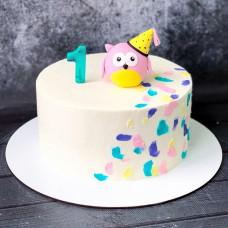 Торт с совой на годовасие