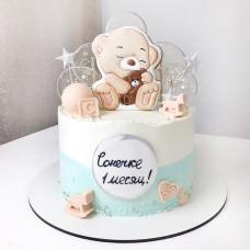 Торт на 1 месяц девочке