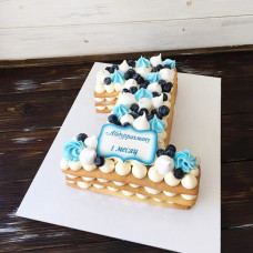 Торт на 1 месяц мальчику