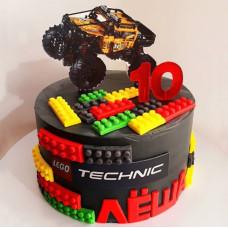 Торт машина 10 лет