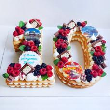 Торт на 10 лет без мастики