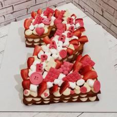 Торт доченьке на 2 года