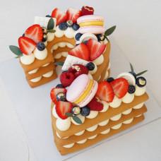 Торт цифра 2 без мастики