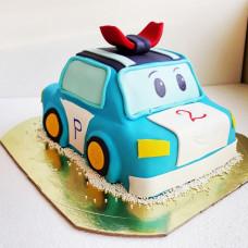 Торт Робокар на 2 года