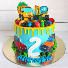 Торт на 2 года с машинками