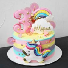 Торт единорог 3 года