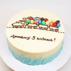 Кремовый торт на 3 года