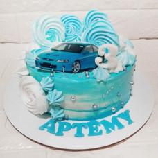Торт машинка 3 года