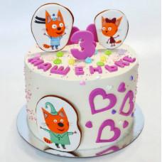 Торт дочке на 3 года