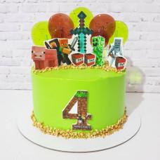 Майнкрафт торт на 4 года мальчику