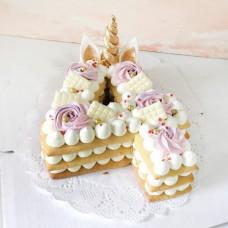 Торт с единорогом для девочки 4 года