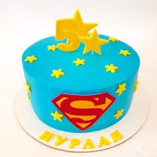 Торт для супермена на 5 лет