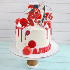 Торт Леди Баг для девочки 6 лет
