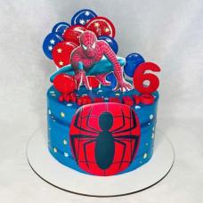 Торт 6 лет человек паук