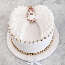 Торт на крестины с ангелом