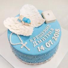 Торт с ангелом на крещение