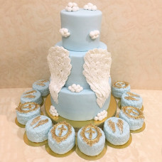 Торт и капкейки на крещение ребёнка