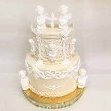 Двухъярусный торт на крещение