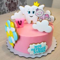 Торт на первый зубик ребенка