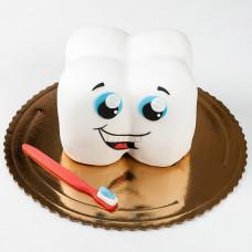 Торт в виде зубика