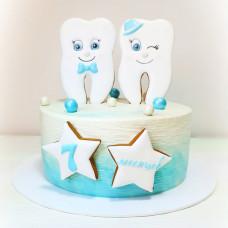 Торт зубик без мастики