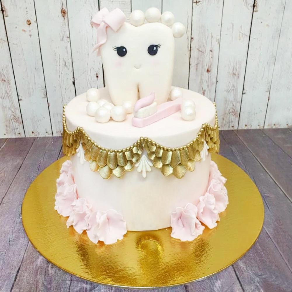 Торт на первый зубик девочке