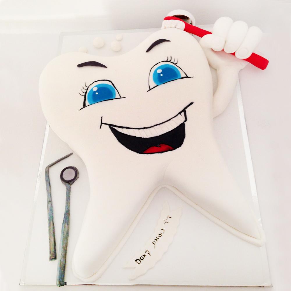 Торт в виде зуба