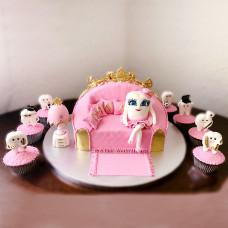 Торт на первый зубик для девочки