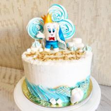 Торт на первый зубик для мальчика