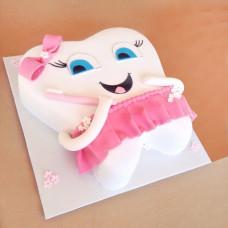 Торт в форме зубика