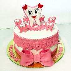 Торт на праздник первого зуба у ребенка