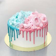Торт на определение пола ребенка без мастики