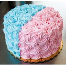 Кремовый торт на определение пола