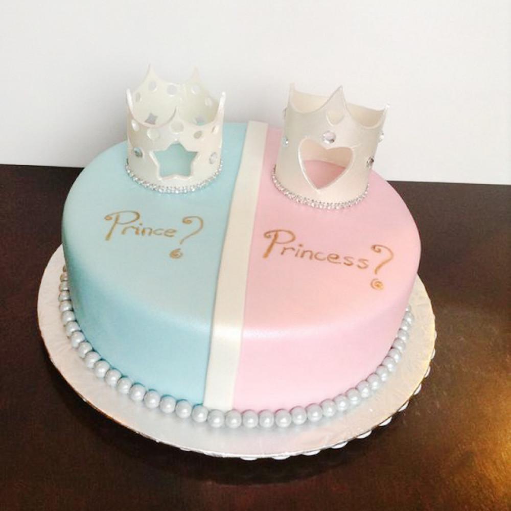 Торт на определение пола с коронами