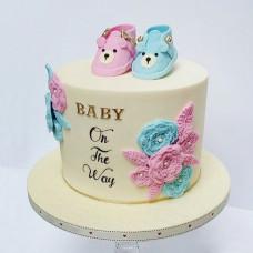 Торт розовая или голубая начинка для определения пола