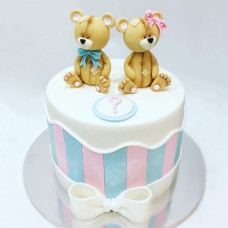 Торт на определение пола с мишками
