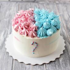 Торт на определение пола из крема