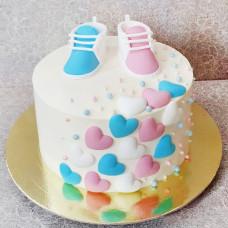 Торт на праздник Gender reveal party