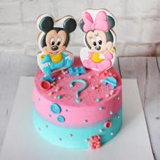 Торт на определение пола в стиле Микки Маус