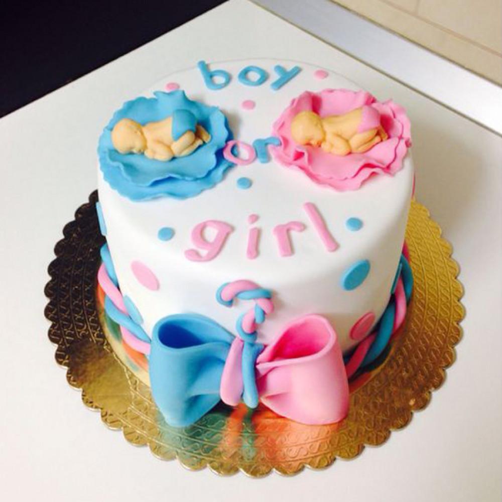 Торт на определение пола с младенцами