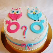 Торт на определение пола с совами