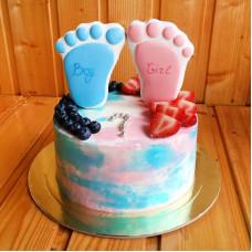 Торт на определение пола с ножками