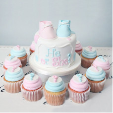 Торт с капкейками на определение пола
