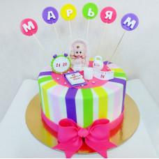 Красивый торт на рождение ребенка