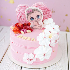 Торт на рождение ребенка с пряниками