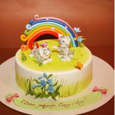 Торт на рождение двойняшек