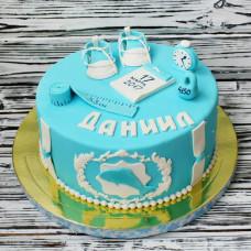 Торт новорожденному мальчику с метрикой