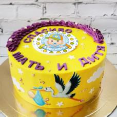 Оригинальный торт на рождения ребенка