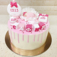 Торт новорожденной дочке
