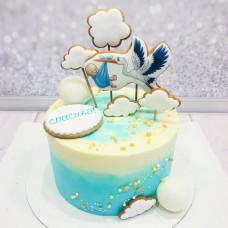 Торт на рождение ребенка из крема